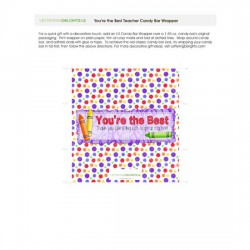 Teacher Thank You - Candy Bar Wrapper - PR