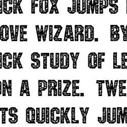 TXT Jersey - Font