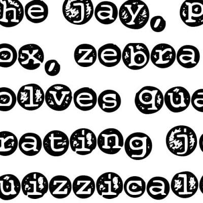 TXT Rough Button - Font