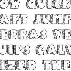 TXT SchoodleRock 3D - Font