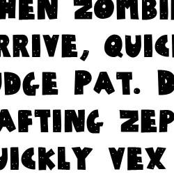 TXT SchoodleRock Bold - Font