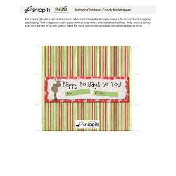Rudolph - Candy Bar Wrapper - PR