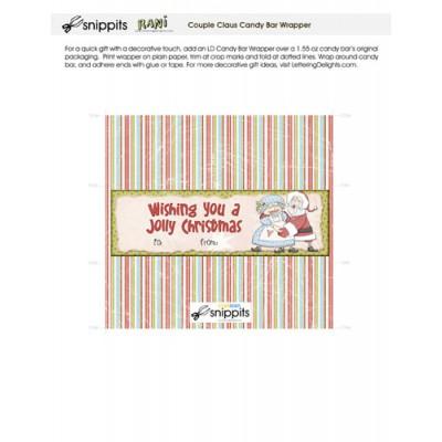 Couple Claus - Candy Bar Wrapper - PR