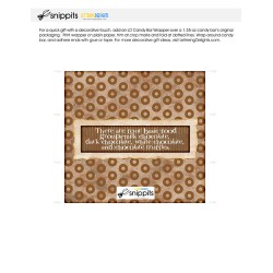 Chocolate Food Groups - Candy Bar Wrapper - PR