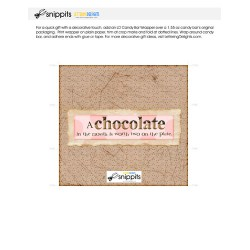 Chocolate in Mouth - Candy Bar Wrapper - PR