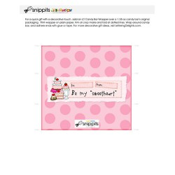 Be My Sweetheart - Candy Bar Wrapper - PR
