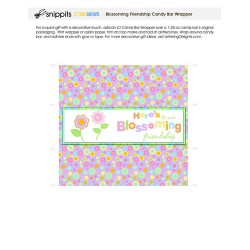 Blossoming Friendship - Candy Bar Wrapper - PR