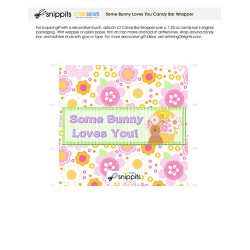 Some Bunny Loves You - Candy Bar Wrapper - PR