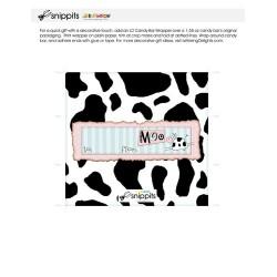 Birthday To Moo - Candy Bar Wrapper - PR