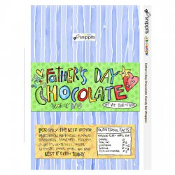Father's Day Chocolate - Candy Bar Wrapper - PR