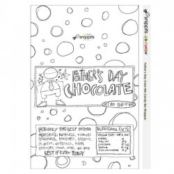 Father's Day Color Me - Candy Bar Wrapper - PR