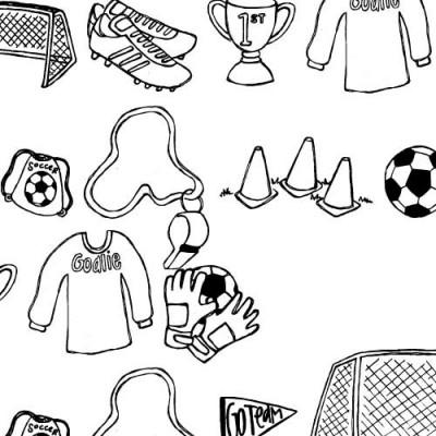 DB Soccer Doodles - DB