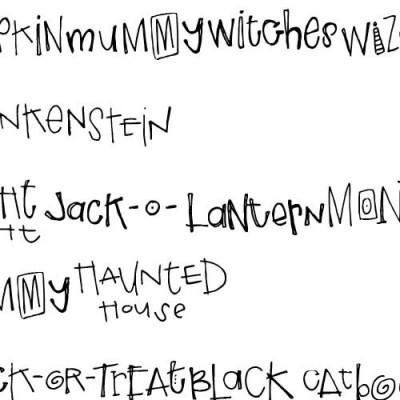 DB Halloween Words - DB