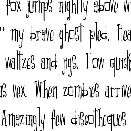 Ld Scary Font