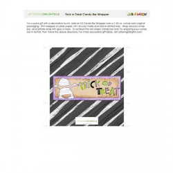 Trick or Treat - Candy Bar Wrapper - PR