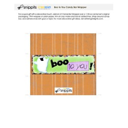 Boo to You - Candy Bar Wrapper - PR