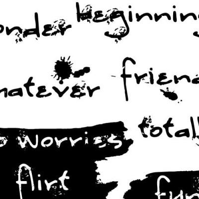 DB Grunge Words - DB