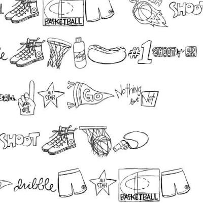 DB Basketball Doodles - DB