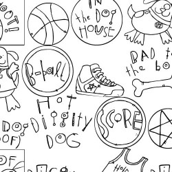 DB B-Ball Dog Doodles - DB