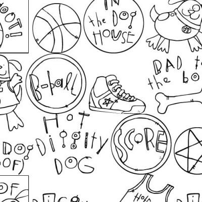 DB B-Ball Dog Doodles - DB
