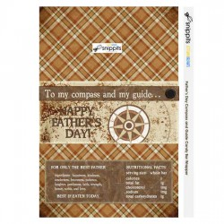 Father's Day Compass and Guide - Candy Bar Wrapper - PR