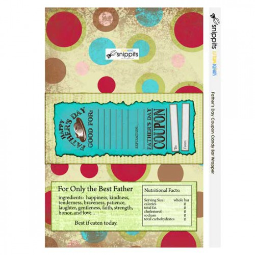 Father's Day Coupon - Candy Bar Wrapper - PR