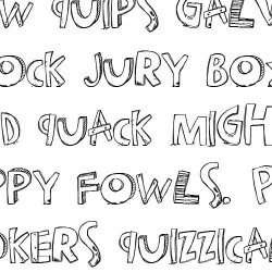 LDJ Happy Trails - Font