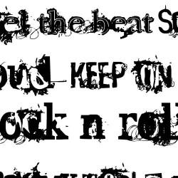 DB Rock-n-Roll Words - DB