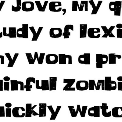 LD Thick Schtick - Font