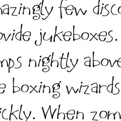 LD Funky Scribble - Font