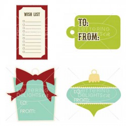 Peppermint Holiday - Tags & Frames - GS