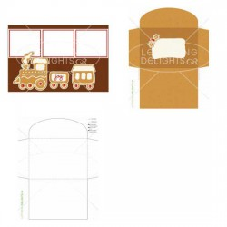 Gingerbread Train - Photo Card - PR