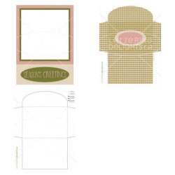Pink Seasons Greetings - Photo Card - PR