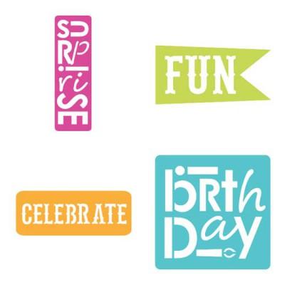 Birthday Sparkle Stencil - SV