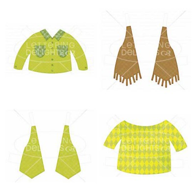 Glam Girls Paper Dolls Clothing - GS