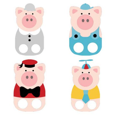 Three Pigs - Finger Puppets - CS