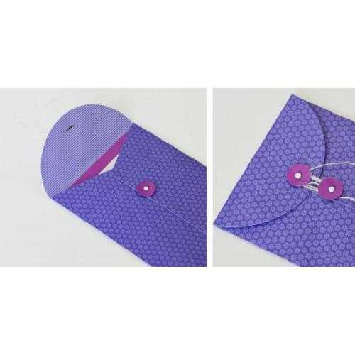 how to make string tie envelopes