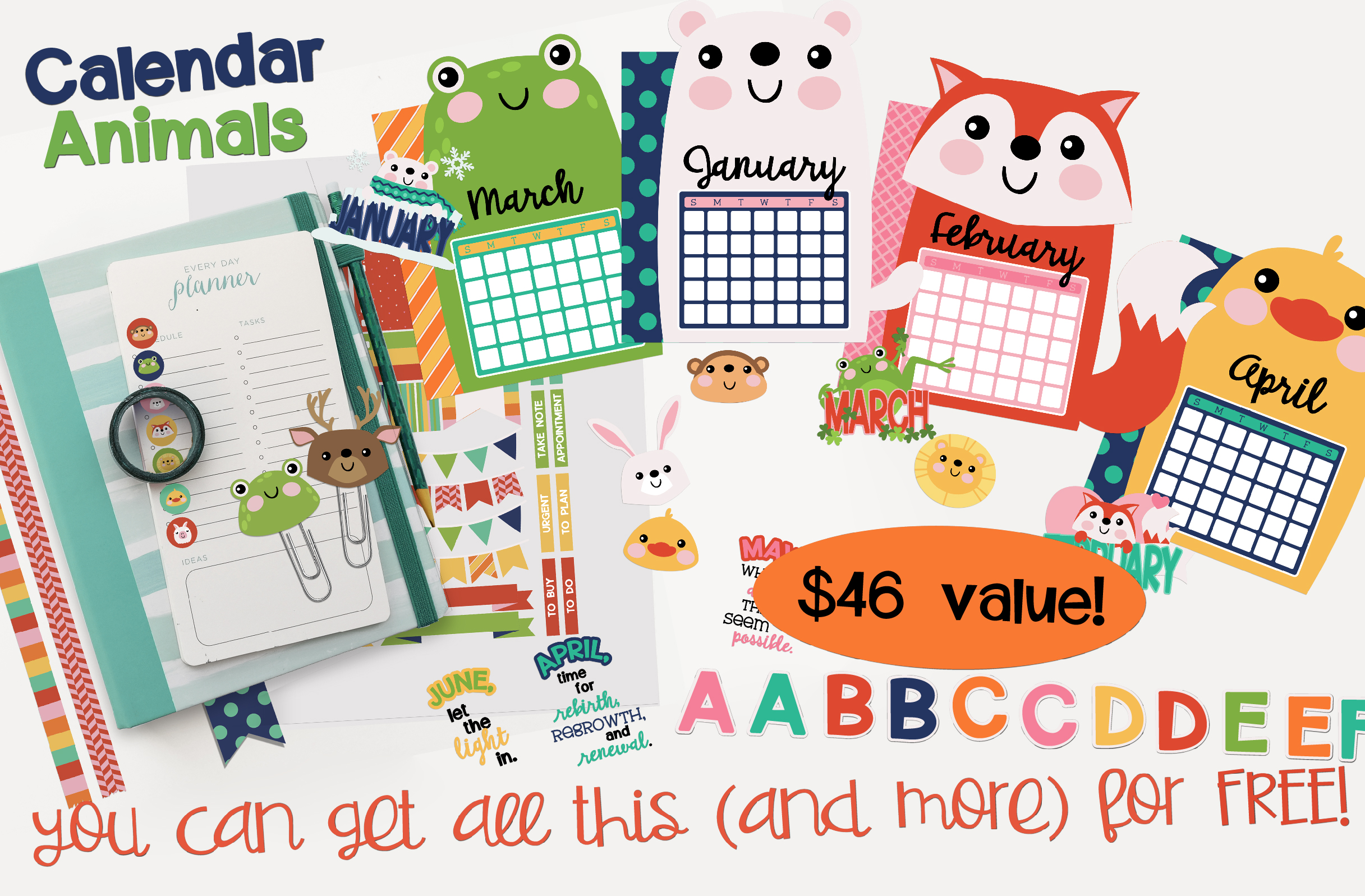 Earn the Calendar Animals - Promotional Bundle - Free