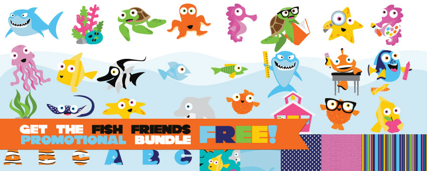 Earn the Fish Friends - Promotional Bundle - Free
