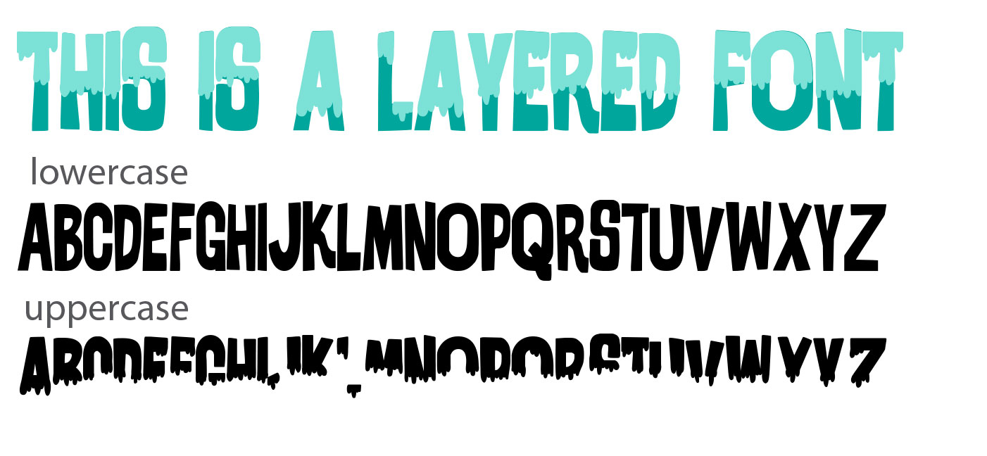 using layered fonts