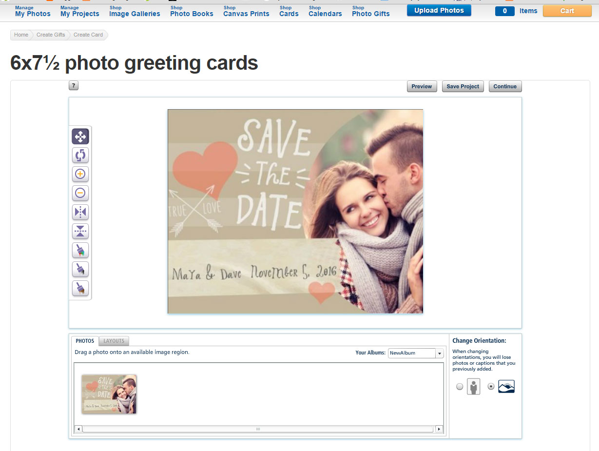 How to upload your own photocard to costco kristyandbryce Image collections