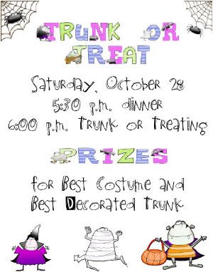 Trunk Or Treat Flyer http://www.letteringdelights.com/newsletter/2006/october/creative.html