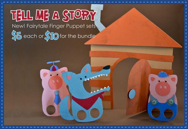Fairy Tale Finger Puppets Bundle