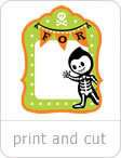 Costume Clubhouse Gift Tags Print and Cut set