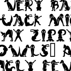 Scrap Cat 'n' Dog - Font