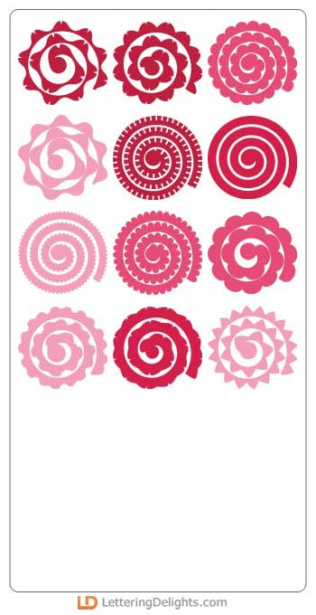 quilled flowers, ilove2cutpaper, LD, Lettering Delights, Pazzles, Pazzles Inspiration, Pazzles Inspiration Vue, Inspiration Vue, Print and Cut, svg, cutting files, templates, Silhouette Cameo cutting machine, Brother Scan and Cut, Cricut