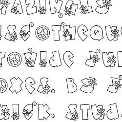 Doodle Flower Power - Font