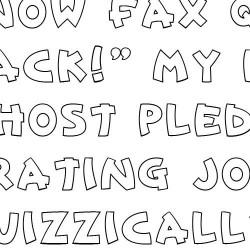 Doodle Caps Block - Font