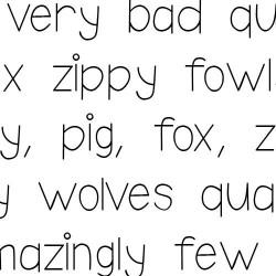 Doodle Print - Font