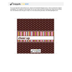 Cheer Up Stripes - Candy Bar Wrapper - PR